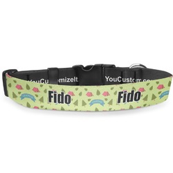 Summer Camping Deluxe Dog Collar (Personalized)