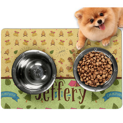 Summer Camping Dog Food Mat - Small w/ Name or Text