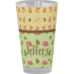 Summer Camping Drinking / Pint Glass (Personalized)