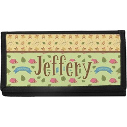 Summer Camping Canvas Checkbook Cover (Personalized)