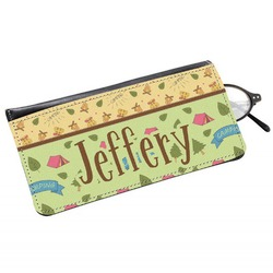 Summer Camping Genuine Leather Eyeglass Case (Personalized)