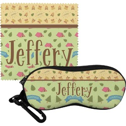 Summer Camping Eyeglass Case & Cloth (Personalized)