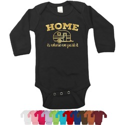 Summer Camping Foil Bodysuit - Long Sleeves - 0-3 months - Gold, Silver or Rose Gold (Personalized)