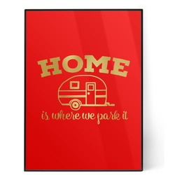 Summer Camping 5x7 Red Foil Print (Personalized)