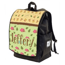 Summer Camping Backpack w/ Front Flap  (Personalized)