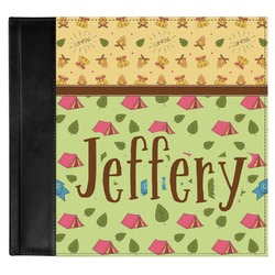 Summer Camping Genuine Leather Baby Memory Book (Personalized)
