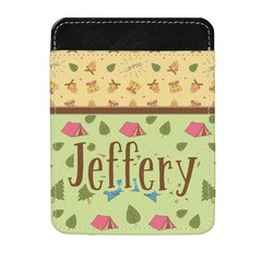 Summer Camping Genuine Leather Money Clip (Personalized)