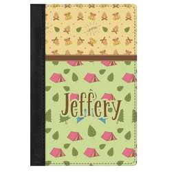 Summer Camping Genuine Leather Passport Cover (Personalized)