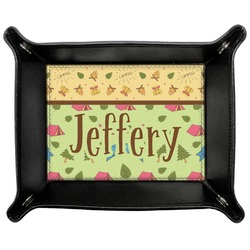 Summer Camping Genuine Leather Valet Tray (Personalized)