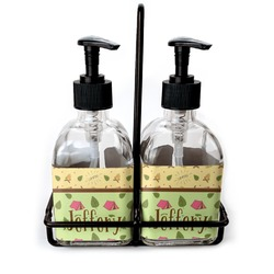 Summer Camping Soap & Lotion Dispenser Set (Glass) (Personalized)