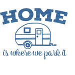 Summer Camping Glitter Sticker Decal - Custom Sized (Personalized)