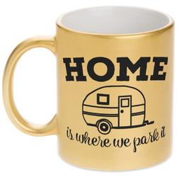 Summer Camping Gold Mug (Personalized)