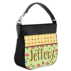 Summer Camping Hobo Purse w/ Genuine Leather Trim (Personalized)
