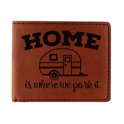 Summer Camping Leatherette Bifold Wallet (Personalized)