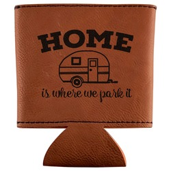 Summer Camping Leatherette Can Sleeve (Personalized)