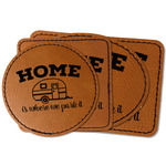 Summer Camping Faux Leather Iron On Patch (Personalized)