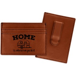 Summer Camping Leatherette Wallet with Money Clip (Personalized)