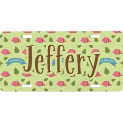 Summer Camping Front License Plate (Personalized)