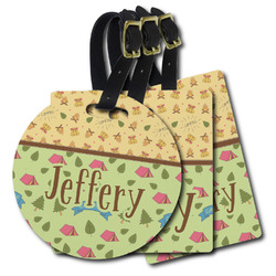 Summer Camping Plastic Luggage Tags (Personalized)