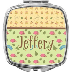 Summer Camping Compact Makeup Mirror (Personalized)