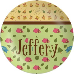 Summer Camping Melamine Plate (Personalized)