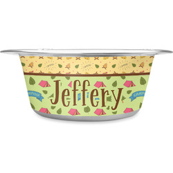 Summer Camping Stainless Steel Pet Bowl (Personalized)