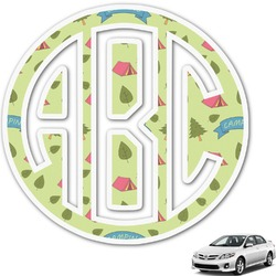 Summer Camping Monogram Car Decal (Personalized)