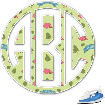 Summer Camping Monogram Iron On Transfer (Personalized)