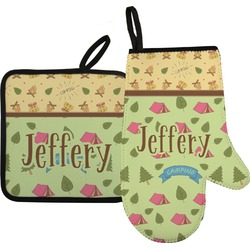 Summer Camping Oven Mitt & Pot Holder (Personalized)