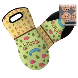 Summer Camping Neoprene Oven Mitt (Personalized)