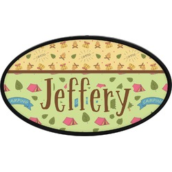 Summer Camping Oval Trailer Hitch Cover (Personalized)