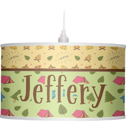 Summer Camping Drum Pendant Lamp (Personalized)