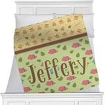 Summer Camping Minky Blanket (Personalized)