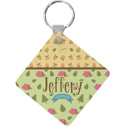 Summer Camping Diamond Key Chain (Personalized)