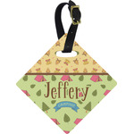 Summer Camping Diamond Luggage Tag (Personalized)