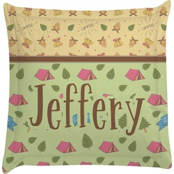 Summer Camping Euro Sham Pillow Case (Personalized)