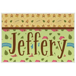 Summer Camping Laminated Placemat w/ Name or Text