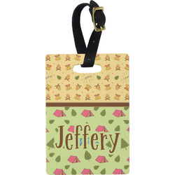 Summer Camping Rectangular Luggage Tag (Personalized)