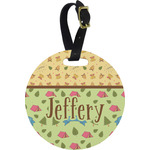 Summer Camping Round Luggage Tag (Personalized)