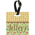 Summer Camping Square Luggage Tag (Personalized)