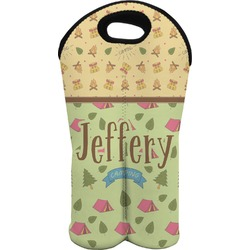 Summer Camping Wine Tote Bag (2 Bottles) (Personalized)