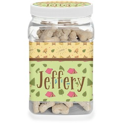 Summer Camping Dog Treat Jar (Personalized)