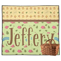 Summer Camping Outdoor Picnic Blanket (Personalized)