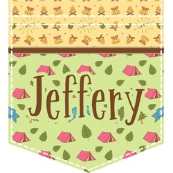 Summer Camping Iron On Faux Pocket (Personalized)