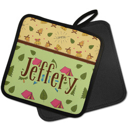 Summer Camping Pot Holder w/ Name or Text