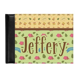 Summer Camping Genuine Leather Guest Book (Personalized)