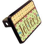 """Summer Camping Rectangular Trailer Hitch Cover - 2"""" (Personalized)"""