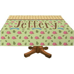 "Summer Camping Tablecloth - 58""x102"" (Personalized)"