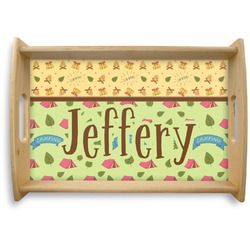 Summer Camping Natural Wooden Tray (Personalized)