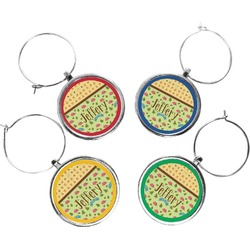 Summer Camping Wine Charms (Set of 4) (Personalized)